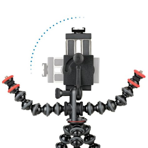 joby gorillapod mobile rig showing tilting capabilities of the phone mount